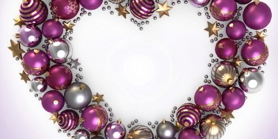 Free Image Heart Made of Christmas Bauble by Kittisak